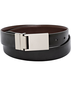 PHASE OUT STYLE: Van Heusen Plate Buckle Black Belt