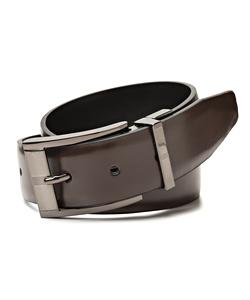 Van Heusen Frame Buckle Black/Brown Reversible Belt