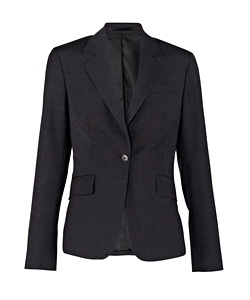 Stretch Wool Blend Plain Weave Suit Separate Jacket