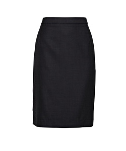 High Twist Wool Blend Suit Pencil Skirt