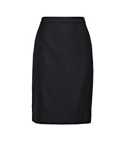 High Twist Wool Blend Suit Pencil Skirt