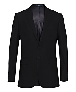 High Twist Wool Rich Suit Jacket