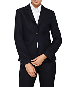 High Twist Wool Blend Suit Jacket