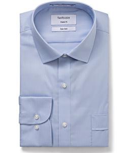 Men's Cotton Polyester Mini Herringbone Classic Fit Shirt