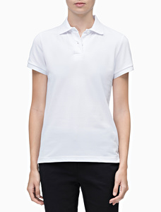 Women's Standard Fit Sport Polo Cotton Rich
