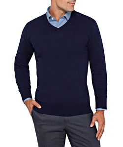 Men's Standard Fit Pullover 100% Cotton Knit