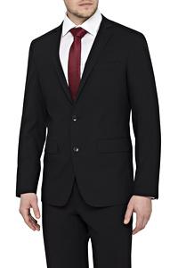 Stretch Wool Blend Plain Weave Slim Fit Suit Separate Jacket