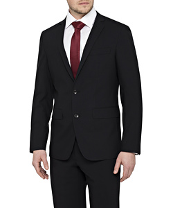 Men's Stretch Wool Blend Plain Weave Slim Fit Suit Separate Jacket