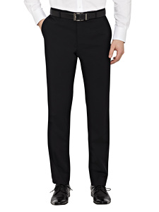 Stretch Wool Blend Plain Weave Slim Fit Suit Separate Trouser