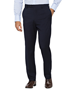 PHASE OUT STYLE - Poly Blend Flat Front Slim Fit Trouser