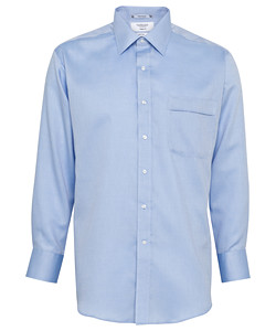 Cotton/Polyester Dobby Herringbone Classic Fit Shirt