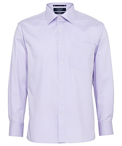 PHASE OUT STYLE - Cotton Polyester Herringbone Stripe European Fit Shirt