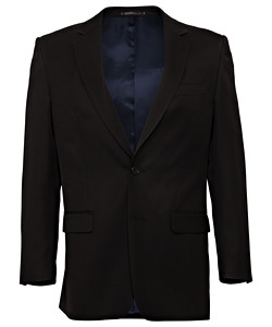 PHASE OUT STYLE Black Plain Twill Suit Separates Jacket
