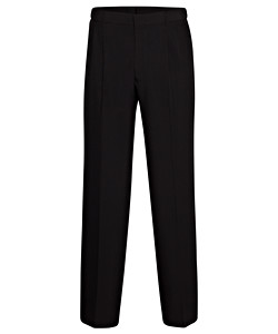 2 Pleat Plain Weave Trouser with Extendable Waistband